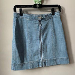 The Fifth Label Small Mini Denim Skirt With Zipper